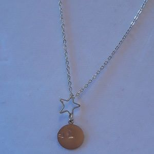 NWT initial and small heart (optional) Necklace